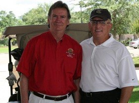 Jim and Mayor Mike Cooper at the 2013 Covington Bicentennial Golf Tournament